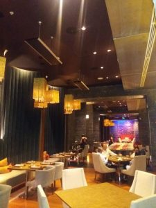 Láminas de altura- Proyecto restaurante Tamarine Hotel Marriott Bogotá
